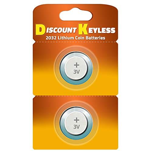 CR2032 Key Fob Remote Battery (2-Pack) (2010 Grand Caravan Key)