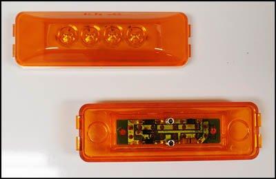 Triton 09652 Amber 4-inch Rectangular LED Clearance Sidemarker Light by Triton