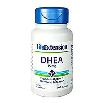 Life Extension, DHEA 15 MG 100 CAPSULES