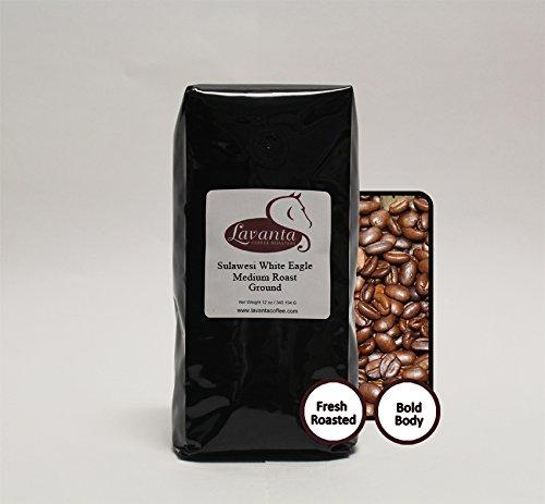 Lavanta Coffee Roasters Indonesia Sulawesi Toraja 'White Eagle' Direct Trade Coffee, 12oz Medium Ground