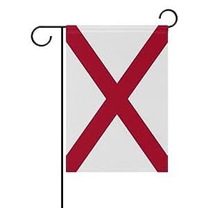 "ONEERA Alabama Flag US State Flag Weatherproof Polyester Garden Flag 12"" x 18"" Seasonal Home Banner"