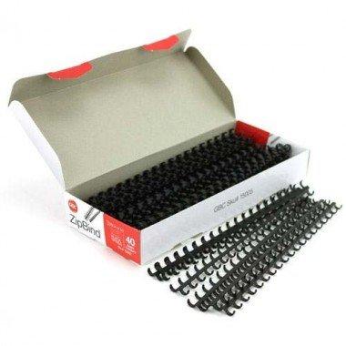 (GBC(R) Plastic ZipBind™ Binding Spines, 1/2in., 90-Page Capacity, Black, Pack Of 25)