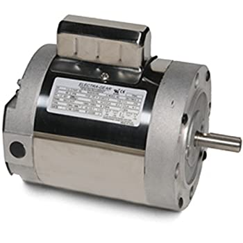 Leeson 6439191261 Boat Hoist Motor, 1 Phase, 56C Frame, C Face Mounting, 3/4HP, 1800 RPM, 115/208-230V Voltage, 60Hz Fequency