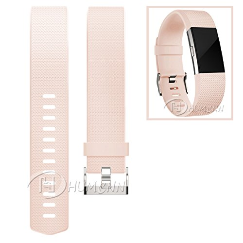 Humenn-Fitbit-Charge-2-HR-Accessory-Band-for-Women-Blush-Pink-Small