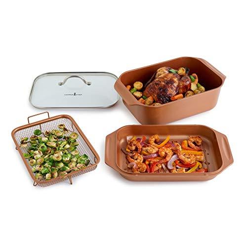 Copper Chef WonderCookerXL 14-in-1 Multi Cooker Set – 4PC Wonder Cooker XL – 12.5QT Capacity