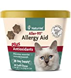 NaturVet - Aller-911 Allergy Aid Plus Antioxidants for Cats - 60 Soft Chews - Supports Immune System, Skin Moisture & Respiratory Health - Contains Omegas, DHA & EPA - 30 Day Supply