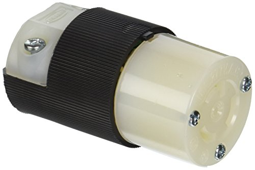 (Hubbell HBL4779C Locking Connector, 15 amp, 277V, L7-15R, Black)