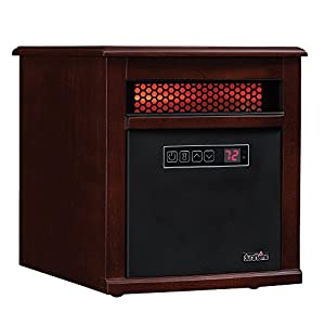 Duraflame 9HM9342-C299 Portable Electric Infrared Quartz Heater, Cherry