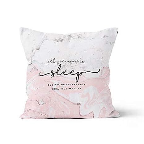 Amazon.com: QIXIAOTING - Cojín de algodón y lino para regalo ...