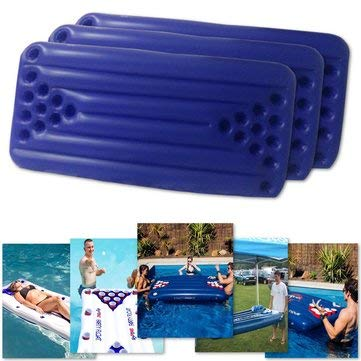 PVC Inflatable Beer Pong Table 22 Cups Holder Water Float Mat Pool Party Drinking Game - Swimming Other Swimming Supplies ()