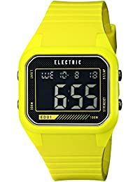 Men's EW0110030021 ED01 PU Band Digital Display Japanese Quartz Green Watch
