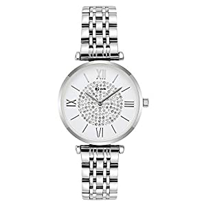 Seven Analogue Women's & Girl's Watch (White Dial Gold Colored Strap)