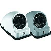 Voyager VCMS50LGP Color CMOS IR LED Camera, Gray Primer Color; For the vehicles left side; 12V