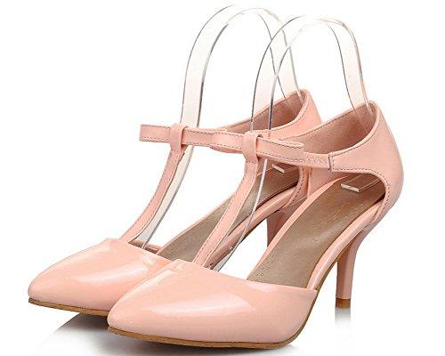 Tirare Punta VogueZone009 Puro di Medio Rosa Donna Maiale Pelle Tacco CCALLP013150 Sandali Chiusa 4qFFp5xH