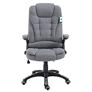 Executive Recline Extra Padded Office Chair (Grey Fabric)