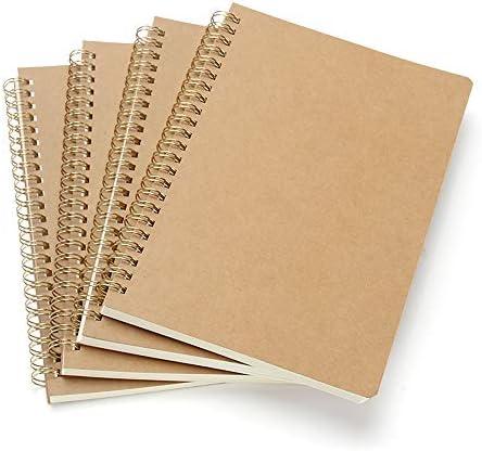 VEESUN Bloc de Notas Espiral A5, Pack de 4 Cuaderno de notas Tapa ...