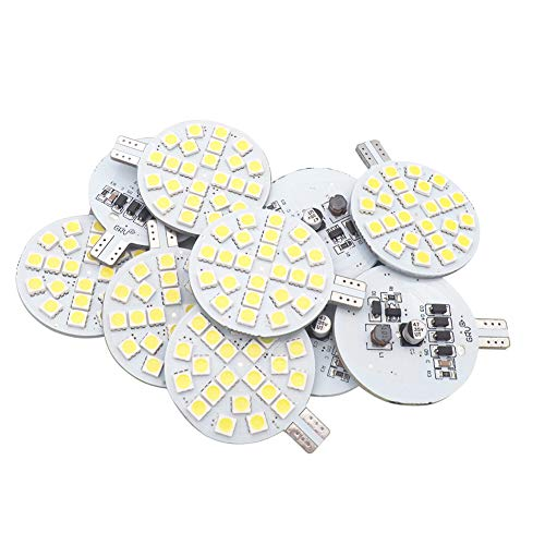 GRV T10 921 194 LED Bulb 24-5050 SMD lamp Super Bright AC 12V /DC 12V -24V For RV Boat Iandscaping Ceiling Dome Interior Lights Cool White (2nd Generation) Pack of 10