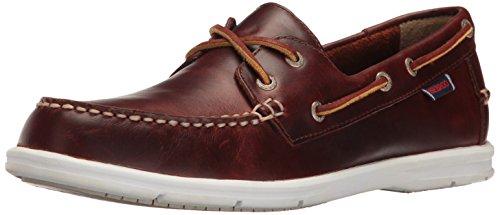 Sebago Men's Liteside Two Eye Boat Shoe, Brown Oiled Waxy Leather, 9 M US (Mens Slip Sebago)