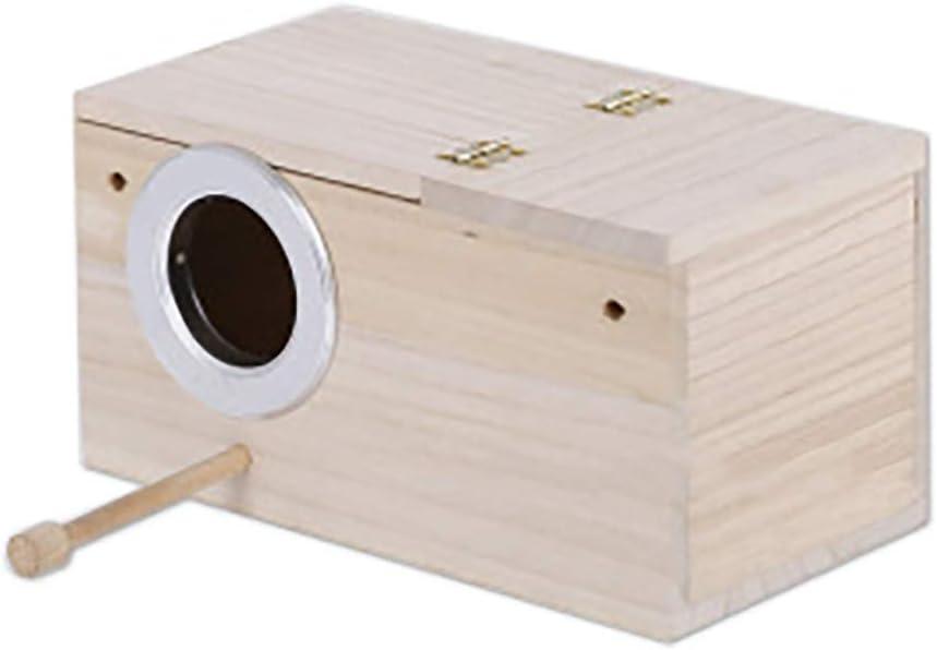 TONGXU Caja de cría de pájaros y Aves, pajareras de Madera Natural, Nido de pájaros pequeños para periquitos, tortolitos, Loros, etc.