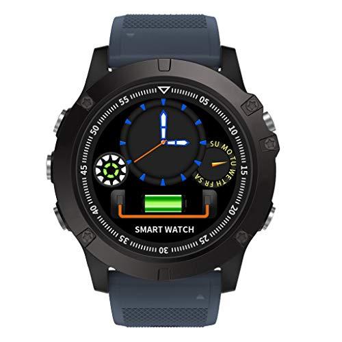 Kariwell Sport Smart Watch - IP68 Waterproof Luminous Dial Bluetooth 4.0 Smart Watch Heart Rate Smart Blood Pressure Step Mileage Calories Sports Mode for T1Tact Kari-31 (Blue)