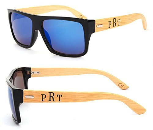 Personalized Sunglasses - Square Frame - Blue