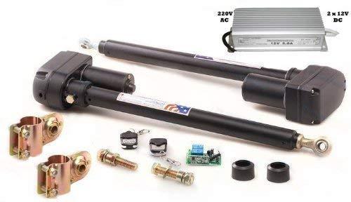 automatisch gesteuerts 2-flügeliges Tor, Trafo 12V, Steuerung 2 Kanal