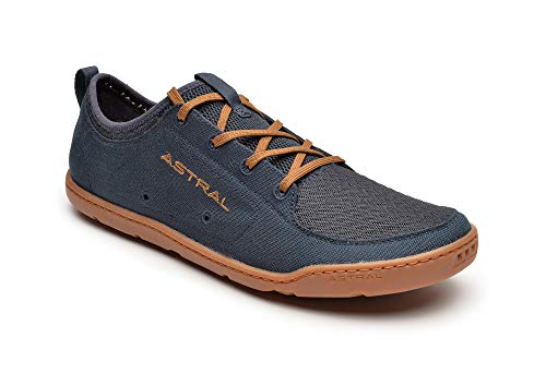 Astral Men's Loyak Everyday Outdoor Minimalist Sneakers, Lightweight and Flexible, Made for Water, Casual, Travel, and Boat, Navy/Brown, 11 M US