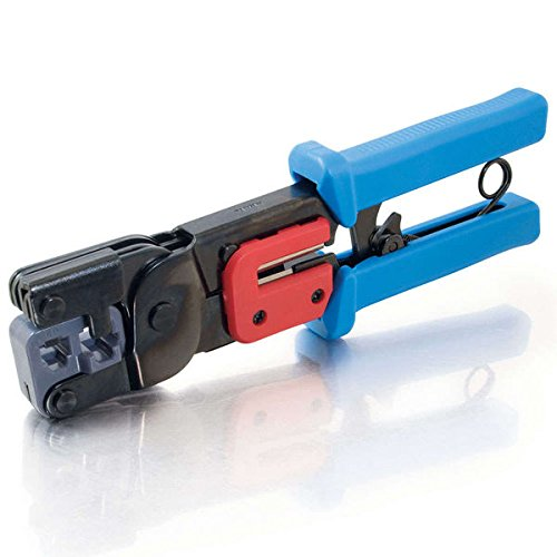C2G/Cables to Go 19579 RJ11/RJ45 Crimping Tool with Cable Stripper (Black/Blue)