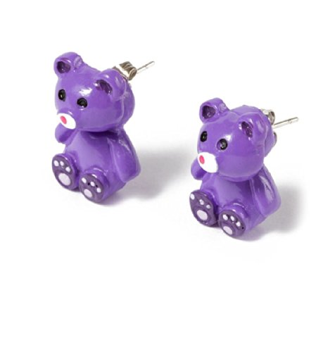 Front and Back Earrings - Teddy Bear