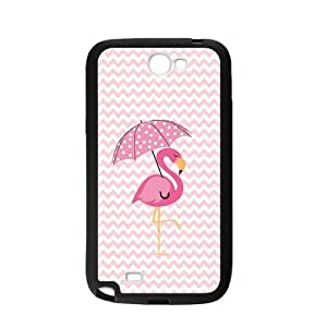 Flamingo Pink Chevron Print Personalized Custom For HTC One M7 Case Cover