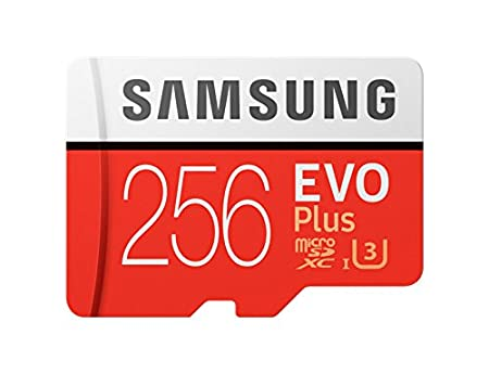 Samsung 256GB EVO Plus Class 10 UHS-I microSDXC U3 with Adapter (MB-MC256GA/EU) Read:up to 100MB/s <span at amazon