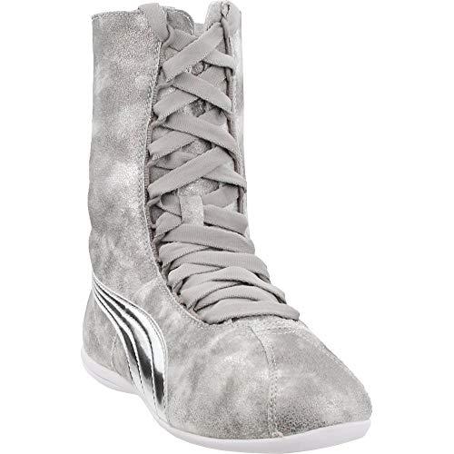 PUMA Women's Eskiva High Metallic Silver Athletic Shoe