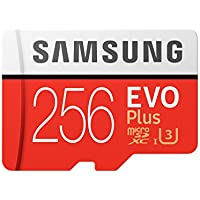 Samsung 256GB EVO Plus Class 10 UHS-I microSDXC U3 with Adapter (MB-MC256GA/EU) Read:up to 100MB/s,Write:up to 90MB/s !