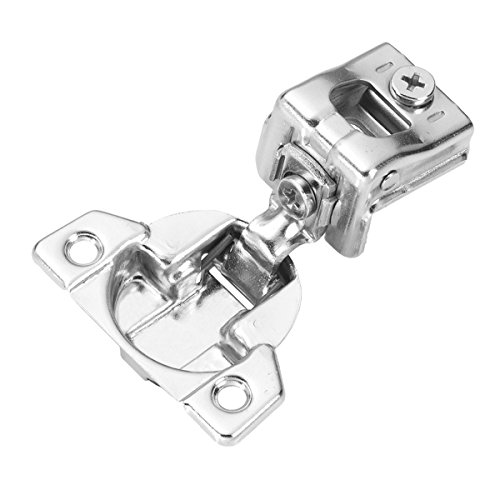 Hickory Hardware P5129-14 1-1/4-Inch Overlay Euro Frame Hinge, Bright Nickel 14 Bright Nickel Hinges