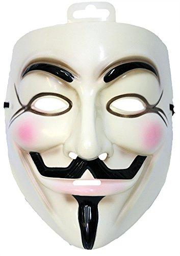 UHC Men's Horror V for Vendetta Famous Face Mask Halloween Costume Accessory
