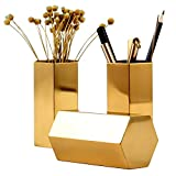 Pencil Holder Gold 2.5'' Metal Pencil Cup for Office,Home,School,Makeup Brush Storage 1 Pack