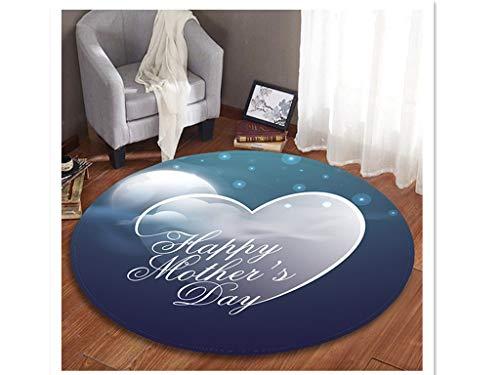 (WaiiMak Floor Mat Mother's Day Wish to Mom Bathroom Waterproof Fabric Shower Curtain Hook Set (M))