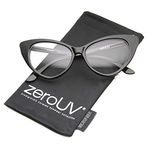 zeroUV - Super Cat Eye Glasses Vintage Inspired Mod Fashion Clear Lens Eyewear - Eyeglasses Cat Style