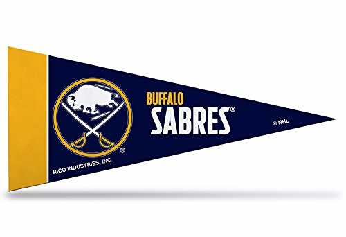 Rico Industries NHL Buffalo Sabres 8-Piece 4-Inch by 9-Inch Classic Mini Pennant Décor Set