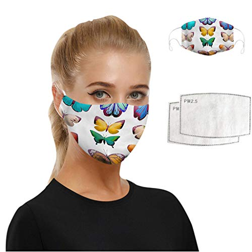 ObestChoose Face Covering for Womens Men Unisex Anti-Dust Washable Reusable Mouth Cover Fashion Printed Face Protection