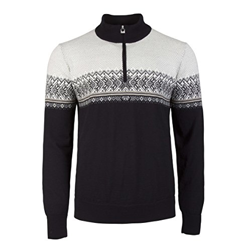 Dale of Norway Hovden masculine sweater, Black/Light Charcoal/Smoke/Beige/Off White, - Sweater Norway Dale Mens