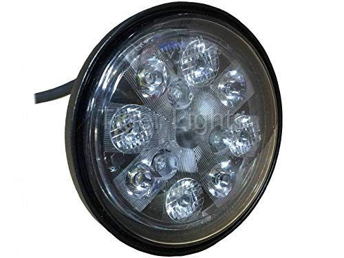 Tractor LED Light - 24W Sealed Round (Fits Allis Chalmers Tractor 160, 175 + | John Deere Tractor 2010, 4050, 4055, 4240, 4250, 4320, 4430, 4450, 4640, 4650, 4755, 4760, 4840, 4850, 4955, 4960 & More)