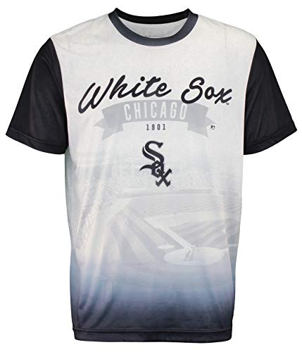 FOCO MLB Men's Outfield Photo Tee, Chicago White SOX Large Chicago White Sox Tee