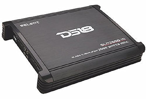 Ds18 Slc2000 1 Ds18 Select Slc 2000 1 2 000 Watts One  1  Channel Monoblock Class D Amplifier With Bass Control   Set Of