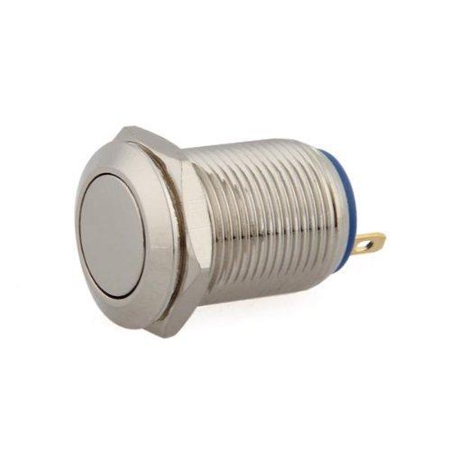 2A//3V-250V Interrupteurs a bouton-poussoir Commutateur de pression 12mm Laiton nickele SODIAL R