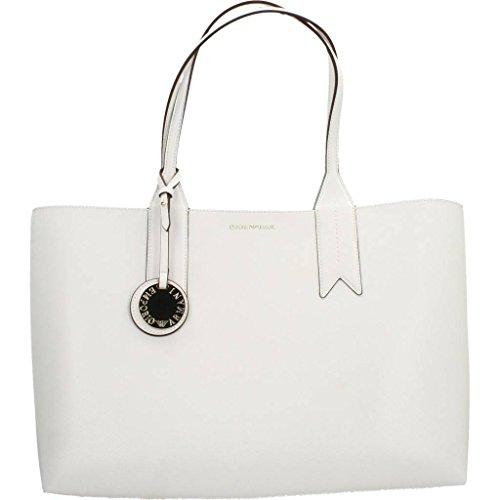 Donna Nero Handbag Shopping Armani Logo Zucch carta Bianco Emporio wXqRtSxR