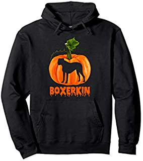 Boxer Dog in Pumpkin  Halloween Costume Dog Lover Gift Pullover Hoodie T-shirt   Size S - 5XL