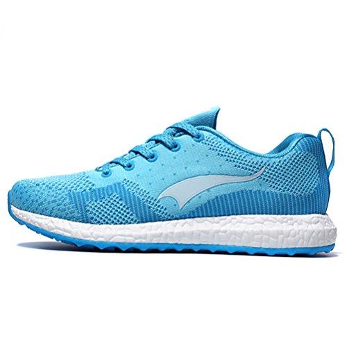 Yidiar Prestanda Kvinna Atletisk Träning Trail Löparskor Utomhus Promenader Jogging Sportskor Ljusblå / Vit