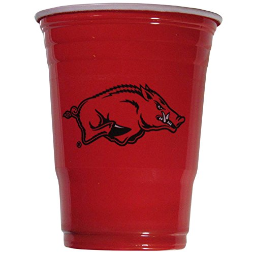 (Siskiyou NCAA Arkansas Razorbacks Plastic Game Day Cups 2 Sleeves of 18 (36)