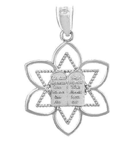 Jewish Charms and Pendants - Mizpah Star of David Silver Pendant